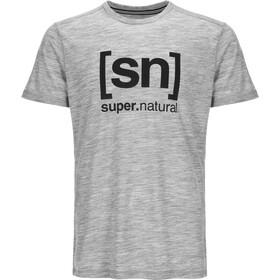 super.natural M's Essential I.D. Tee Ash Melange/Print